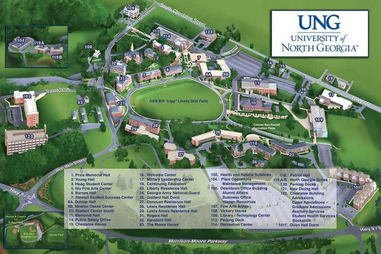 University Of North Georgia Dahlonega GA - Georgia map dahlonega